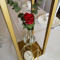 geometyczne swieczniki wesele