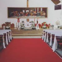 dekoracja koscioła na pierwsza komunie swieta kosciół Urszuli Leduchowskiej gdynia